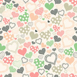 Seamless pattern with hearts on a light background Stock Images