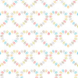 Seamless pattern of hearts lined clips Royalty Free Stock Photos