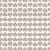 Seamless pattern with hearts. Linen illustration. Royalty Free Stock Photos