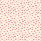 Seamless pattern with hearts linked together Royalty Free Stock Photo
