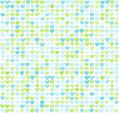 Seamless pattern of hearts. Little hearts are a nice gentle colors. Royalty Free Stock Photo