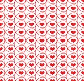 Seamless pattern with hearts in loops Royalty Free Stock Images