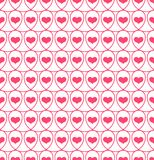 Seamless pattern with hearts in loops Royalty Free Stock Photos