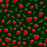 Seamless pattern with hearts. Love background. Hearts background vector illustration