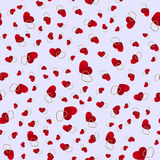 Seamless pattern with hearts. Love background. Hearts background Royalty Free Stock Photo