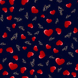 Seamless pattern with hearts. Love background. Hearts background Stock Photos