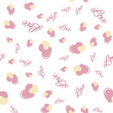 Seamless pattern with hearts. Love background. Hearts background Stock Image