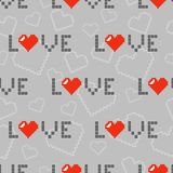 Seamless pattern with hearts and love. For textiles, interior design, for book design, website background Stock Images