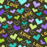 Seamless pattern with hearts and love Royalty Free Stock Image