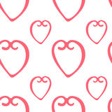 Seamless pattern with hearts minimalism. Vector Royalty Free Stock Images