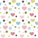 Seamless pattern hearts. Seamless pattern of multicolored hearts. Vector illustration Stock Photography