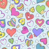 Seamless pattern with hearts and other elements Royalty Free Stock Photos