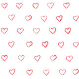 Seamless pattern with hearts. Stock Images