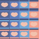 Seamless pattern hearts pastel Royalty Free Stock Photos