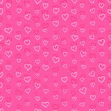 Seamless pattern with hearts. Seamless pink pattern with hearts Stock Photography