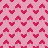 Seamless pattern with hearts on pink Royalty Free Stock Photo
