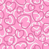 Seamless pattern with hearts on pink Royalty Free Stock Images