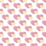 Seamless pattern with hearts. Seamless pattern with pink and yellow hearts Stock Photos