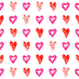 Seamless pattern hearts Royalty Free Stock Images