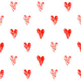 Seamless pattern hearts Royalty Free Stock Photo