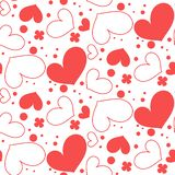Seamless pattern of hearts royalty free illustration