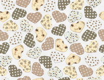 Seamless pattern  hearts shapes. Stock Photo