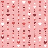 Seamless pattern with hearts. Striped seamless background with hearts Royalty Free Stock Images