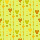 Seamless pattern. Hearts striped background. Royalty Free Stock Photography