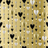 Seamless pattern. Hearts striped background. Royalty Free Stock Image