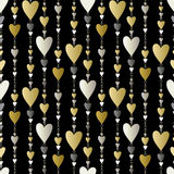 Seamless pattern. Hearts striped background. Stock Photography