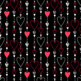 Seamless pattern. Hearts striped background. Royalty Free Stock Photos