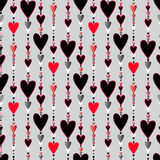 Seamless pattern. Hearts striped background. Royalty Free Stock Images