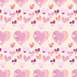 Seamless pattern with hearts. For textiles, interior design, for book design, website background Stock Photos