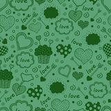 Seamless pattern with hearts. Stock Photos