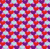 Seamless pattern with hearts. Texture in the form of a fabric. Seamless pattern with hearts. Hearts of three different flowers on a lilac background. Texture in Royalty Free Stock Photo