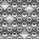 Seamless pattern of hearts tile. 10 eps Royalty Free Stock Photo