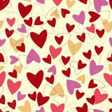 Seamless pattern from hearts to   Valentines day. Royalty Free Stock Image