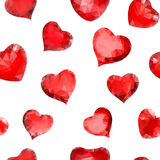 Seamless pattern of hearts of triangles Royalty Free Stock Image