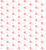 Seamless pattern of hearts Stock Images