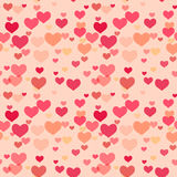 Seamless pattern with hearts Stock Images