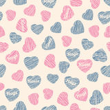 Seamless pattern with hearts, Valentine Day background. Abstract Stock Images