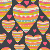 Seamless pattern with hearts for Valentine's Day design. Decorat Royalty Free Stock Image