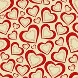 Seamless pattern hearts for Valentine's Day Stock Photos