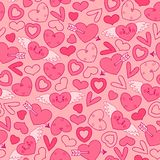 Seamless pattern with hearts. Royalty Free Stock Images