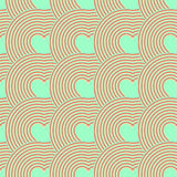 Seamless pattern of hearts. Valentine's Day, retro. Optical illusion. Vector illustration Royalty Free Stock Photo