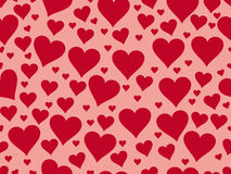 Seamless pattern with hearts. Valentine's Day. Textile illustrat Stock Photo