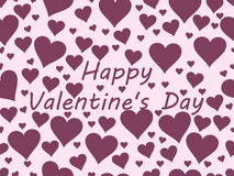 Seamless pattern with hearts. Valentine`s Day. Vector Royalty Free Stock Photos