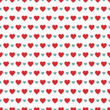 Seamless pattern with hearts for Valentine`s Day. Vector illustration Stock Images