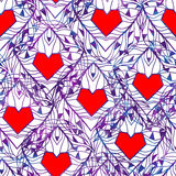Seamless pattern with hearts. Valentine's Day. Vector illustration, EPS10 Stock Photography