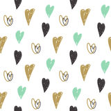 Seamless pattern with hearts. Valentines Day background Royalty Free Stock Photos